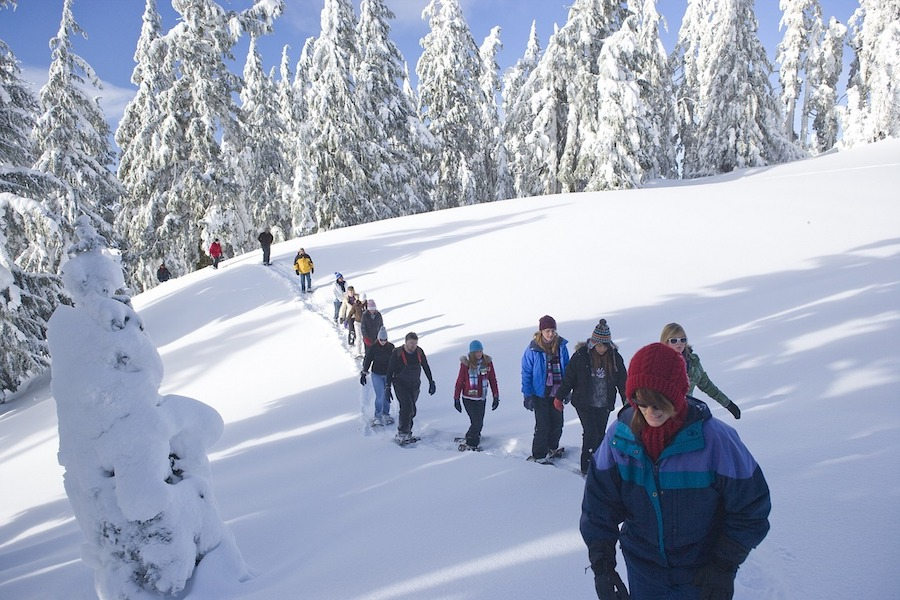Snowshoeing in US National Parks and Monuments